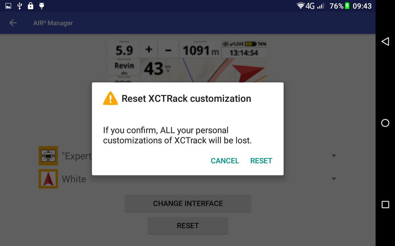 AIR³ Vario GPS android tab